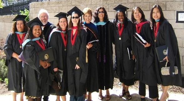 The rehab counseling program at commencement.