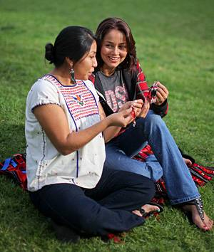 Ginger Rogers, right, is president of the Native American Student Alliance and Paulina Torres, left, is a member.