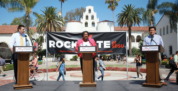 A panel was held as part of SDSU's Rock the Vote campaign.