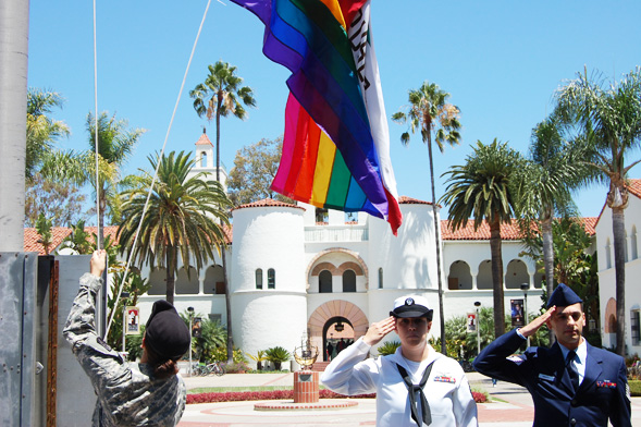 LGBT members of the United States armed forces participated for the first time in the event's five-year history.