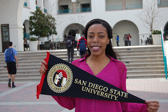 Stefanie Banks, a senior studying public relations.
