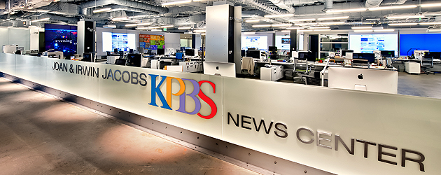The Joan and Irwin Jacobs KPBS News Center opened late Oct. 2011.