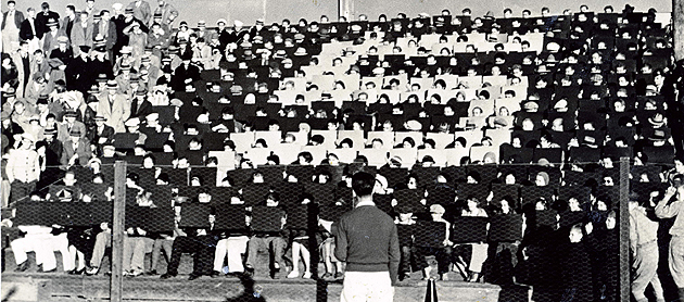 In the 1930s, well-orchestrated, precision card formations were a regular feature during football games.