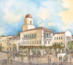 A rendering of the new student union, approved by students and slated for completion in fall 2013.