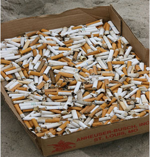 Every year billions of cigarette butts end up on our beaches and in the ocean