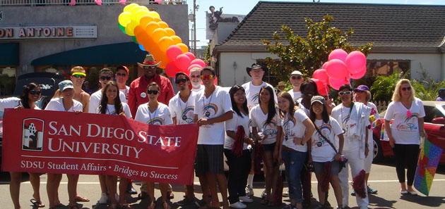 SDSU students, faculty, staff and alumni celebrated LGBT Pride.