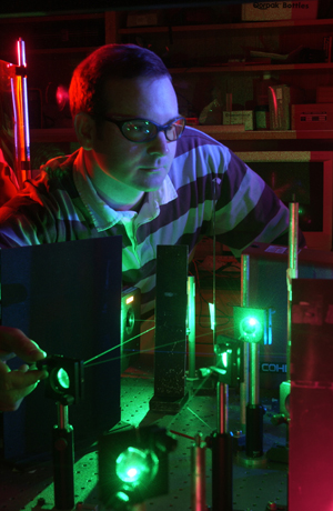 The U.S. Small Business Administration grant will help bring local defense technology to market, like that developed at this SDSU laser lab.