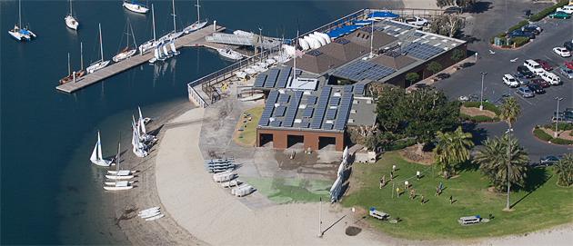 The Mission Bay Aquatic Center is already 100-percent powered by solar energy.