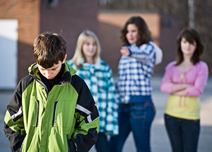 Cyber-bullying often starts on school grounds before going virtual.