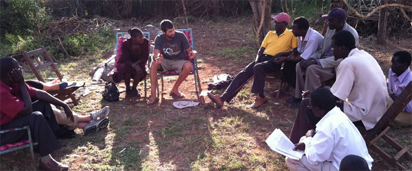 Cory Glazier ('09) continues his work in Kenya after studying abroad there while attending SDSU.