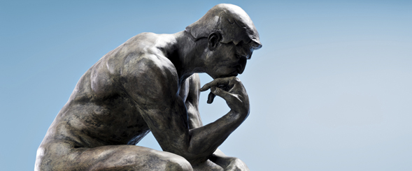 "Auguste Rodin's 1902 sculpture, ""The Thinker"""