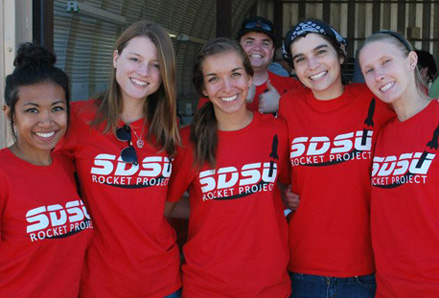 Female members of the SDSU Rocket Club