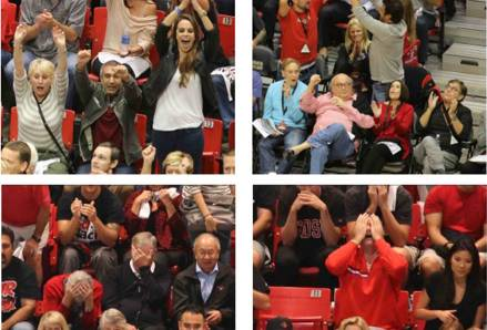 Images of fans at the SDSU v Arizona basketball game taken by FanPix