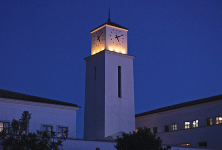 Lipinsky Tower at night