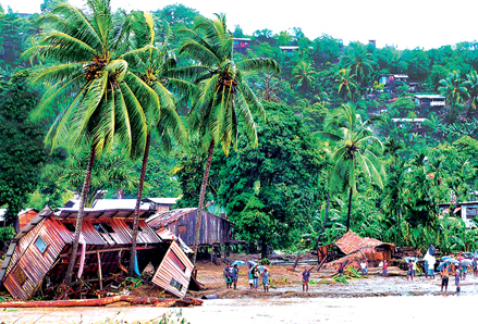 Communities in the Solomon Islands were devastated by Tropical Storm Ita.