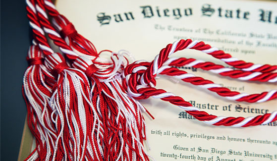 Each graduating donor will receive a special cord to wear during Commencement.