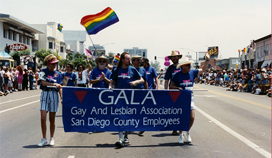 Marching in the Pride Parade