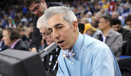 Golden State Warriors PA announcer Matthew Hurwitz (