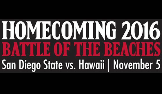 SDSU's 2016 Homecoming Game is set for Nov. 5.