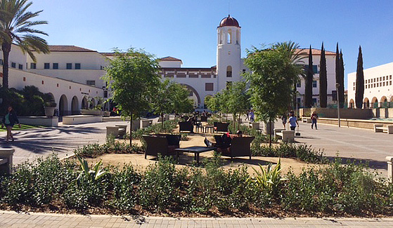 The Centennial Landscape Project added trees, outdoor furniture and more drought-tolerant plants.