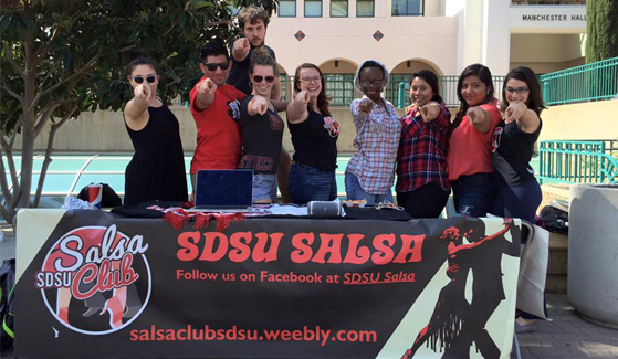 The SDSU Salsa Club meets from 7-9 p.m. on Wednesday evenings on the Exercise and Nutritional Sciences Field. (Credit: SDSU Salsa Club)