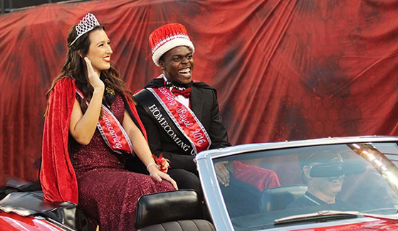 Taylor Lemker (left) and Jason Ogbeide were crowned 2016 Homecoming royals. (Photo: Kelly Smiley/The Daily Aztec)