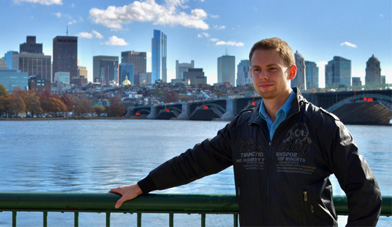 Sebastian Wallat worked at an engineering company in Germany before applying to SDSU.