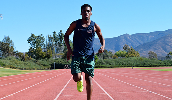 Ahkeel Whitehead competed on the U.S. Paralympics men's track and field team at the 2016 Paralympic Games in Rio de Janiero in September. (Credit: SDSU Student Affairs Communications)