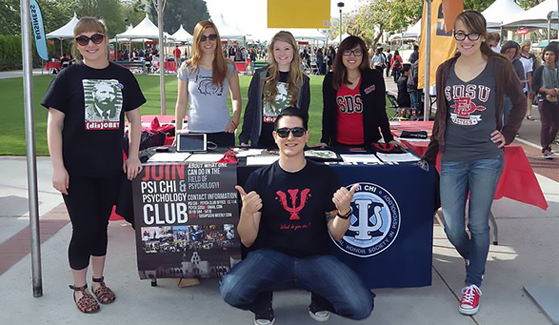 The Psi Chi Honors Society and Psychology Club meet from 3:30-4:30 p.m. every Wednesday in the Park Boulevard Suite of the Conrad Prebys Aztec Student Union. (Credit: Psi Chi and Psychology Club)