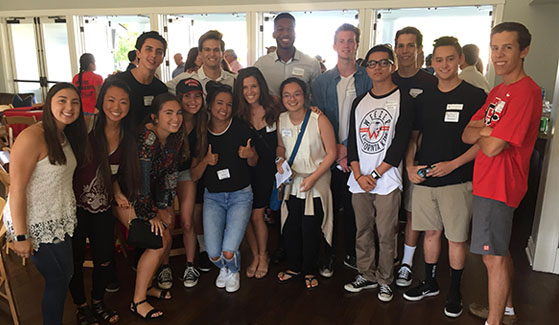 More than 100 incoming Aztecs and their parents gathered for the Orange County Regional Council