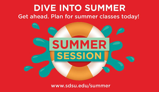 SDSU is offering hundreds of on-campus courses and more than 130 online courses in three short summer sessions.
