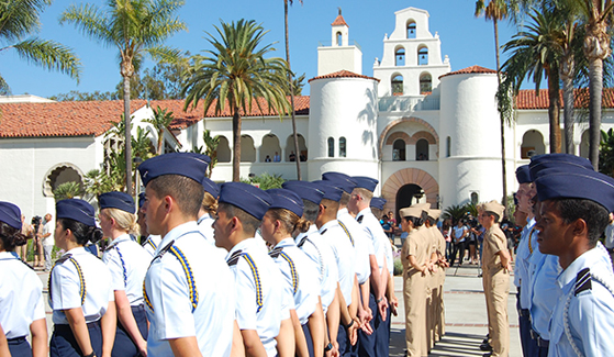 SDSU provides space and programming for more than 3,200 military-affiliated Aztecs, including veterans, active duty and reservists. (Credit: SDSU)