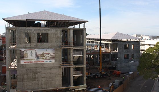 The Engineering and Interdisciplinary Sciences Complex remains on schedule for a January 2018 opening.