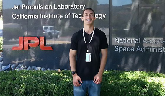 Jeremy Caplan graduated from SDSU in 2014 with a bachelor's degree in mechanical engineering.