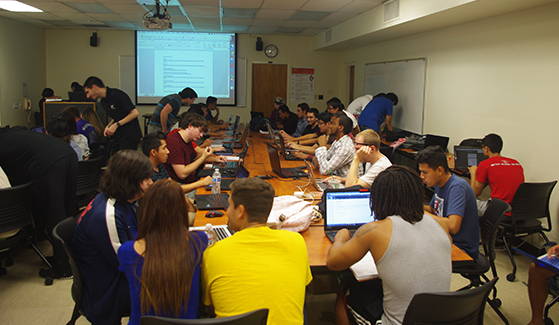 The SDSU Cyber Defense Team meets from 6-8 p.m. on Fridays in North Education 73. (Credit: SDSU Cyber Defense Team)