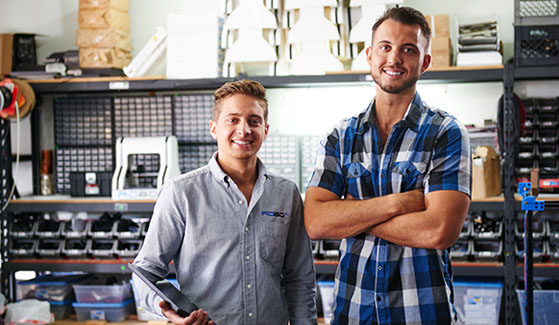 SDSU alumni Coby Kabili (left) and Braydon Moreno were recently named to the Forbes 30 Under 30 list. (Credit: Robo3D)