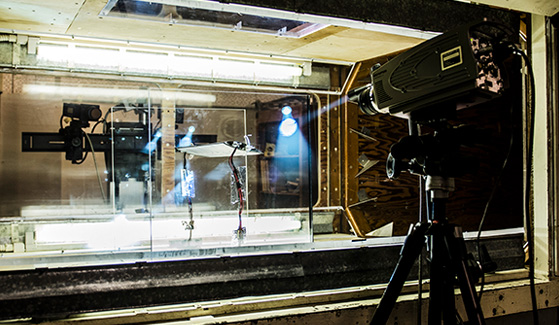 SDSU's low speed wind tunnel is used to test and refine wing aerodynamics. (Photo: Daniel Silva)