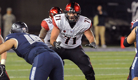 SDSU senior Daniel Brunskill was named to the Mountain West all-academic team for the 2016 fall semester. (Photo: Ernie Anderson)