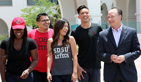 President Elliot Hirshman has served as the president of SDSU since 2011.