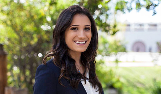 Carmel Alon is an international security and conflict resolution major involved in several student organizations on campus. (Photo: Kelly Smiley/The Daily Aztec)
