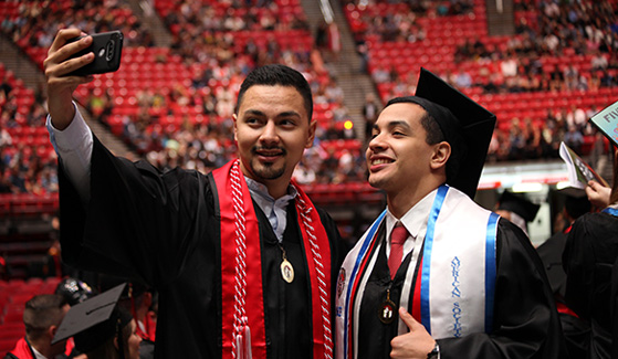Catch the sights and sounds of SDSU's commencement by following SDSU on social media.