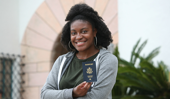 SDSU student Brittany Jones will study at the University of Ghana in the city of Legon during the fall semester.