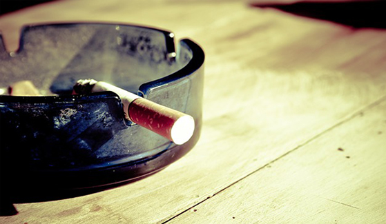 Cigarette smoke is a major source of airborne particles that contribute to air pollution inside homes.