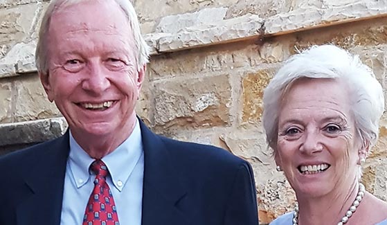 John (left) and Jane Wills created The Wills Family Trust Endowed Scholarship to assist students, primarily in the Fowler College of Business.