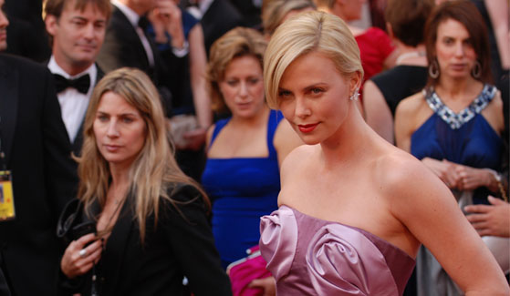 Charlize Theron poses for a photograph.