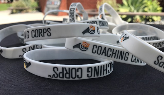 Coaching Corps wristbands (Credit: Emily Barnes)