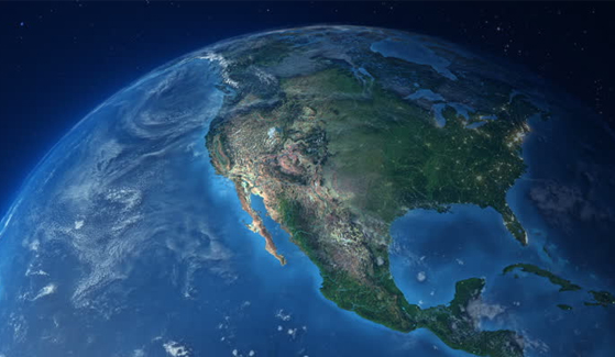 Photo of North America taken from space