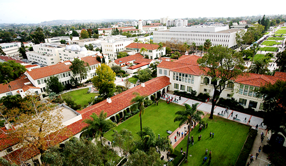 Aerial view of SDSU's campus. (Photo: Sandy Huffaker Jr.)