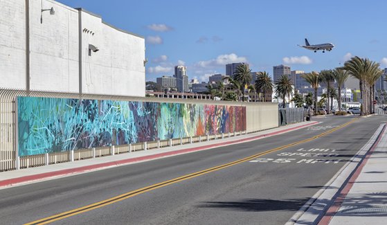 SDSU professor Eva Struble's mural at the San Diego International Airport (Credit: San Diego International Airport)