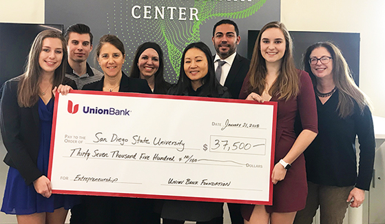 A recent gift from MUFG Union Bank aims to increase the number of startup ideas from women majoring in the STEM disciplines.